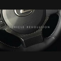 Lexus Nx CT IS RC Dry Carbon Fiber Decorative Steering Wheel Cover 2015 2016 2017