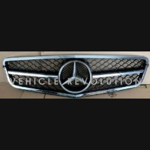 Mercedes-Benz C Class W204  Black Grille, Chrome Frame & Chrome Ring 2013 2014