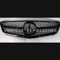 Mercedes-Benz C Class W204  Black Grille, Frame & Ring 2013 2014