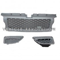 Range Rover Sport All Silver Autobiography Style Front Grille Side Vent 2005-2009