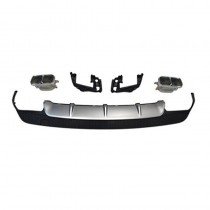 Mercedes-Benz W117 CLA45 Rear Diffuser With Silver Exhaust Tips 2013 - 2017